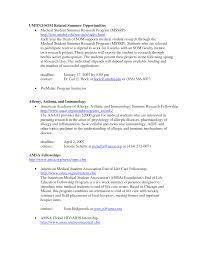 brilliant ideas of medical student resume sample in sample