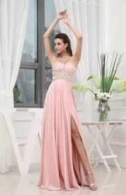 pastel pink romantic sweetheart zip up chiffon satin floor length