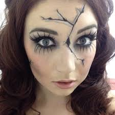 10 Easy Halloween Costumes 3d 25 Cracked Doll Makeup Ideas Creepy Doll