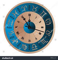 vector clock zodiac image astronomical clock stock vector 84113905