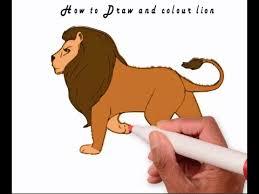draw colour lion 2016 learn draw lion