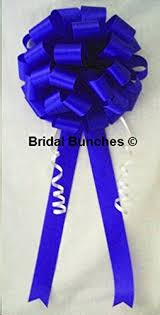 pew bows royal blue horizon blue wedding bows pew bows
