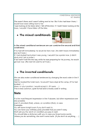 conditional sentences rules and exercises
