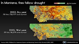 Wild Fires In Montana July 2017 by In Montana Fires Follow Drought Climate Central