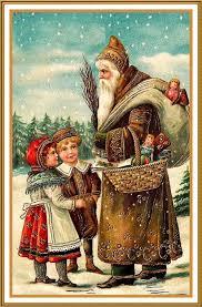 victorian santa christmas cards cheminee website