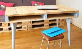 faire un bureau en bois faire un bureau en bois de palette des modales recyclage