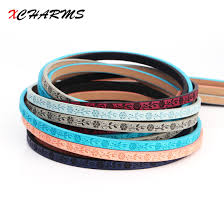 make bracelet with leather cord images Low cost 5mm flat leather cord rope flowers prints accessories jpg