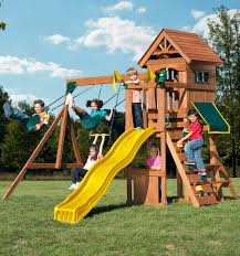 shop complete wood play sets swing n u0027 slide