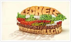 騅ier cuisine franke print food burger king 文字造型堡 typoburger interone gmbh