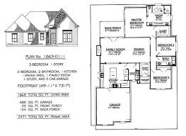 Garage House Floor Plans Three Bedroom House Plans With Garage Home Design Mannahatta Us