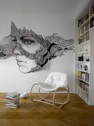 interior the amazingly charming wall murals from pixers strong full image for magnificent home library design with huge white book shelves plus gorgeous lady with