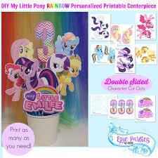 my pony decorations my birthday printable pony personalized