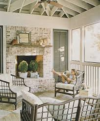 Whitewashing A Fireplace by Screened In Porch With A Fireplace For My Back Deck Redo