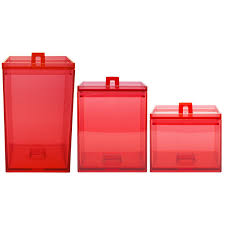 100 red canister sets kitchen sunny simple life chickens in