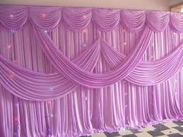 wedding backdrop curtains luxury 3x6m pink color fabric wedding backdrop curtains with