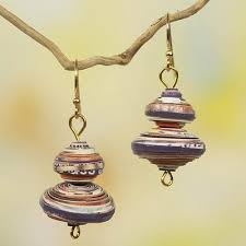 eco earrings multicolor eco earrings spin the top novica
