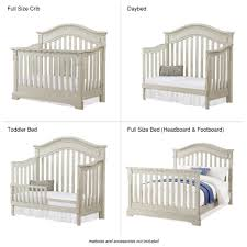How To Convert Crib To Full Size Bed by Bertini Graceland 4 In 1 Convertible Crib Gray Satin Toys