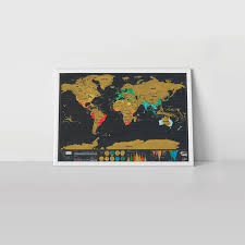 Scratch Off World Map Scratch Map Deluxe Travel Size Poster By Luckies
