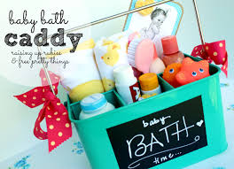 raising up rubies blog baby gift idea bath time caddy