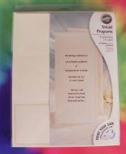 Tri Fold Wedding Program Wilton Wedding Programs Ebay