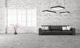Living Room With Sofa Interior Of Modern White Living Room Rendering Stock Image Image
