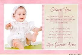 three photo polka dot christening thank you card