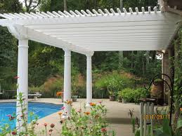 low maintenance vinyl pergola kit poolside south carolina