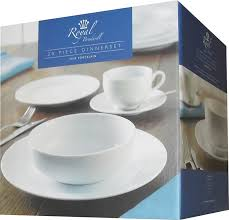 rayware 20 piece royal bradwell dinner service white amazon co