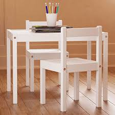 White Kids Table And Chair Set - kids table and chairs set white wood children u0027s set with one table