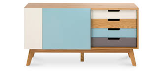 Buffet en bois de style scandinave Rina pas cher