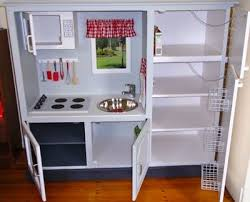 diy play kitchen ideas convert tv cabinets into state of the play kitchens diy