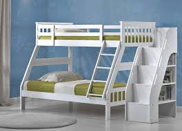 white loft bed with stairs storage attractive white loft bed