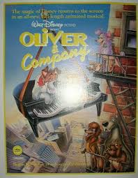 oliver u0026 co disney animated movie poster for sale antiques