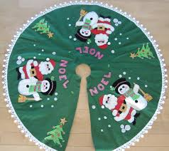 vintage christmas felt tree skirt christmas tree skirts