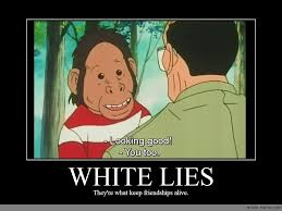 Lie Memes - white lies anime meme com
