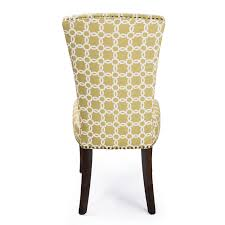 adeco green floral living room side chairs dining chair with