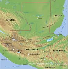 Central America Map Game by Guatemala Physical Map