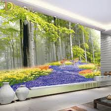 online buy wholesale wall mural wallpaper from china wall mural custom photo wallpaper idyllic natural scenery and flowers living room bedroom backdrop wallpaper 3d stereo wall