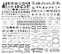 large collection of wedding design elements banner arrow