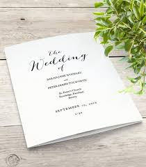 folded wedding program mr mrs printable wedding order of service program template
