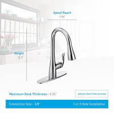 moen arbor one handle high arc pulldown kitchen faucet featuring