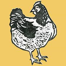 chicken block print heidi b lewis