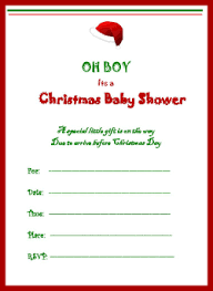 Christmas Baby Shower Invitations - christmas baby shower games