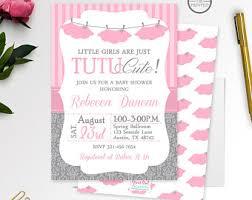 tutu cute baby shower invitations tutu cute baby shower