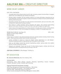 Web Developer Objective Resume Creative Director Resume Sample Free Resumes Tips