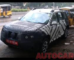 nissan terrano india interior pics nissan terrano spotted testing in chennai edit now unveiled