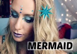 mermaid halloween makeup hair u0026 diy costume youtube