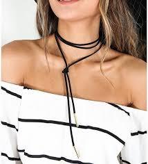 women choker necklace images Black choker necklace long leather necklace women necklace JPEG