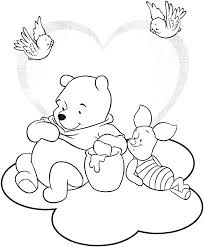 popular character free coloring activity winnie the pooh sharing