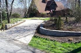 retaining wall driveway modern wood exterior home idea in